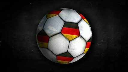 Germany Ball Rotation Looping Alpha Matte