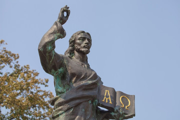 Monument to Jesus Christ in Kharkov.