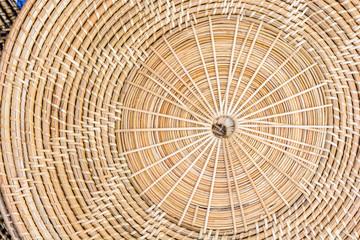 brown Half-Circled Rattan Mat abstract,dizziness