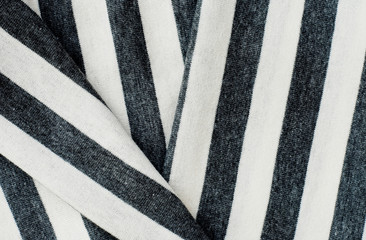 Folding gray striped cotton.