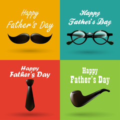 happy fathers day background collection