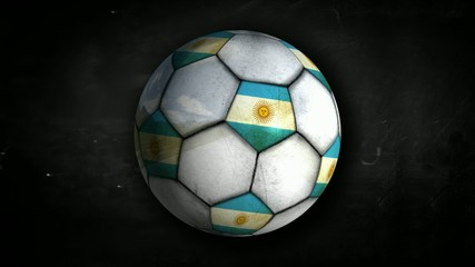 Argentina Ball Rotation Looping Alpha Matte