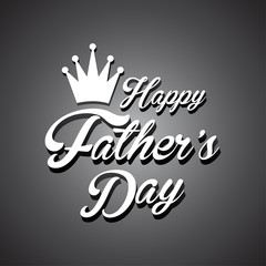 happy fathers day retro vintage design