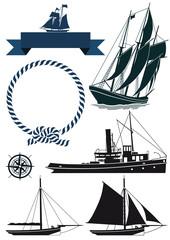 Segelschiffe und Banner