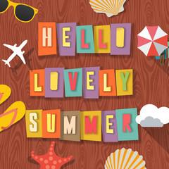 Hello lovely summer travelling background