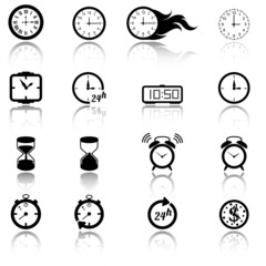 Collection of clock icons
