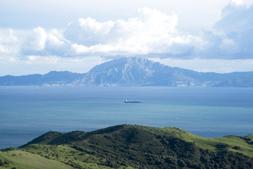 Strait of Gibraltar. Jebel Musa, Morocco background