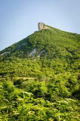 High mountain cliff in Crimea
