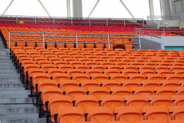Stadium seats for visitors some sport or football
