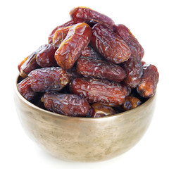 Dates fruit isolated.