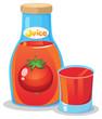 A bottle of tomato juice