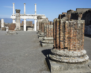 "View from the colonnade""Tribunal"" of the Basilica . Pompeii"