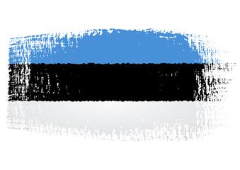 brushstroke flag Estonia