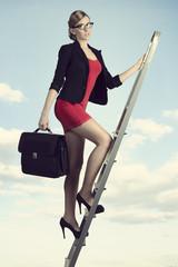 ambitious sensual business woman