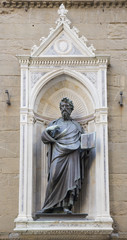 Statue of St. Matteo, the sculptor Ghiberti. Church  Or San Mich