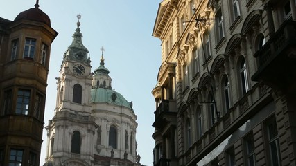 St. Nicholas Church (Mala Strana) with other buildings