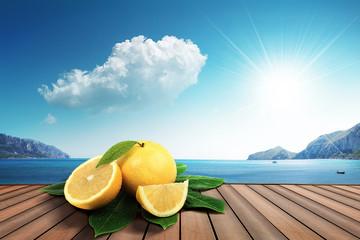 grapefruit on the harbor