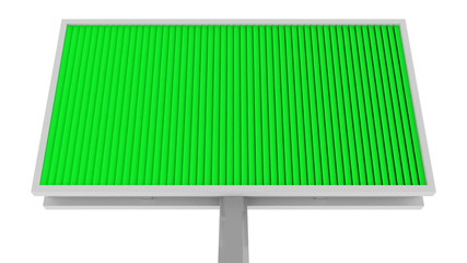 Looping Animation of Billboard with Green and Blue Screen