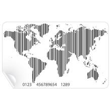 Mapa świata w koncepcji kodów kreskowych wektora
