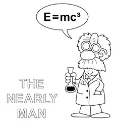 cartoon the nearly man scientist