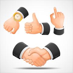 Handshake and hand gestures