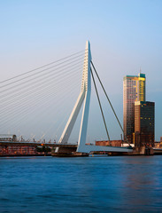 Erasmus Bridge and Maastoren, Rotterdam, The Netherlands