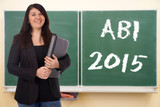 Schülerin und Kreidetafel - ABI 2015