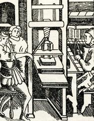 Medieval printing press