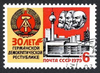 "Soviet stamp ""30 years of German Democratic Republic"""