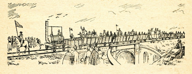 Opening of the Stockton and Darlington Railway