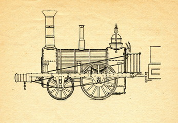 "Stephenson's locomotive ""Planet"""