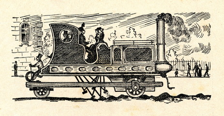 Gordon's Steam Carriage with Propelling Legs (1824)