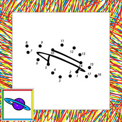 Cartoon vector planet (first) dot to dot