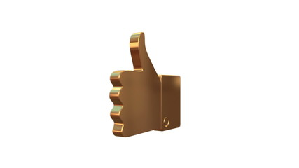 Golden Thumbs up sign