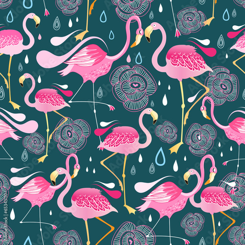 pattern with flamingos © tanor27