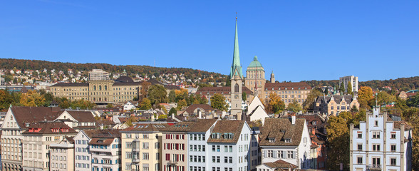 Zurich cityscape with the University buildings