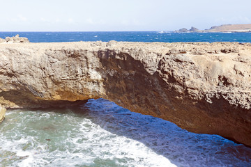 Natural bridge on Aruba island