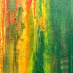 Abstract painted canvas