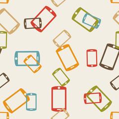 seamless background: smartphone