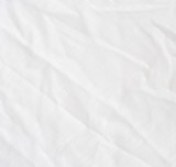 Wrinkle white cotton polyester fabric texture. poster