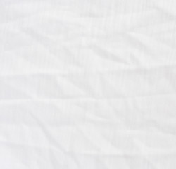 Wrinkle white cotton polyester fabric texture.