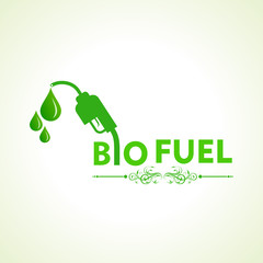 Bio fuel concept with nozzle stock vector
