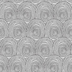 Fingerprint seamless pattern in black and white