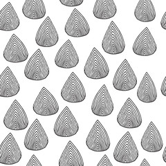 Rain drops seamless pattern in black and white