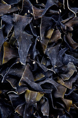 Dried kombu, a type of sea vegetable