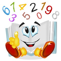 libro matematica cartoon
