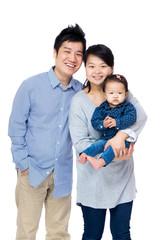 Happy asia family