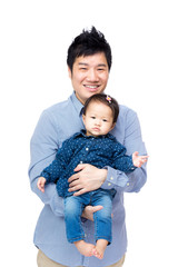 Asian father with his daughter