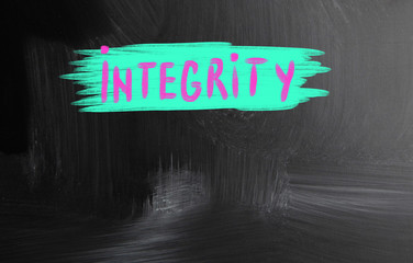 integrity handwritten with chalk on a blackboard