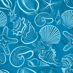 seashells seamless